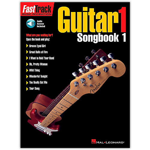 Hal Leonard FastTrack Guitar Songbook 1 Level 1 (Book/Online Audio)-thumbnail
