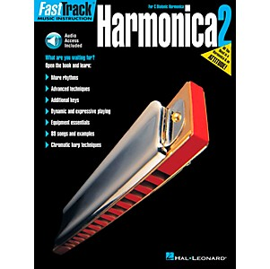 Hal Leonard FastTrack Harmonica Book 2 Book/CD for C Diatonic Harmonica by Hal Leonard