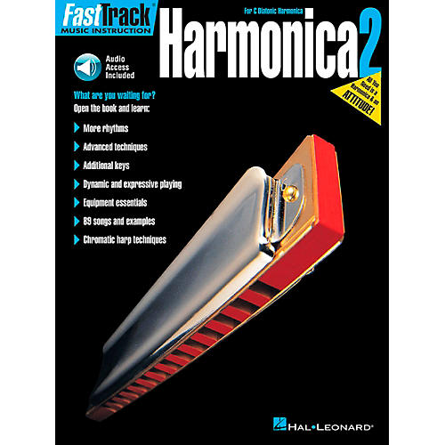 Hal Leonard FastTrack Harmonica Book 2 Book/CD for C Diatonic Harmonica