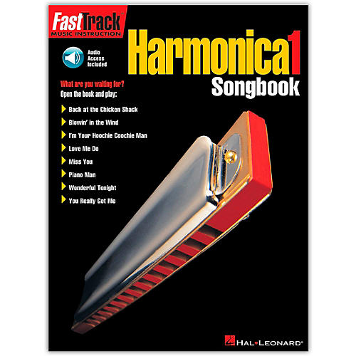 Hal Leonard FastTrack Harmonica Songbook - Level 1 Book with CD-thumbnail