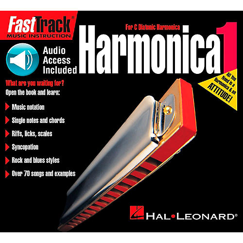 Hal Leonard FastTrack Mini Harmonica Book 1 Book/CD-thumbnail