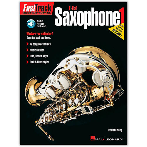 Hal Leonard FastTrack for E Flat Alto Saxophone Book 1 Book/CD