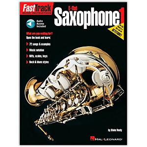 Hal Leonard FastTrack for E Flat Alto Saxophone Book 1 Book/Online Audio