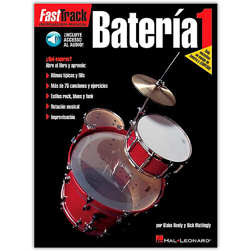 Hal Leonard Fasttrack Bateria 1 - Spanish (Book/Online Audio)-thumbnail