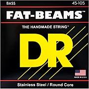 DR Strings Fat-Beams Stainless Steel Medium 4-String Bass Strings (45-105)