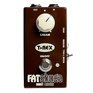 T-Rex Engineering Fat Shuga Boost with Reverb Guitar Effects Pedal by T Rex Engineering