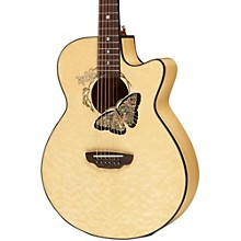 Luna Guitars Fauna Butterfly Acoustic-Electric Guitar Level 1 Transparent Natural