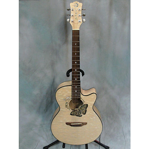 Luna Guitars Fauna Butterfly Acoustic Electric Guitar-thumbnail