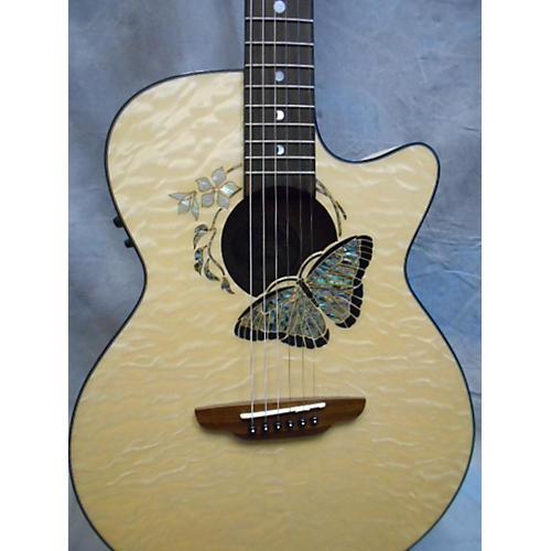 Luna Guitars Fauna Butterfly Acoustic Electric Guitar-thumbnail