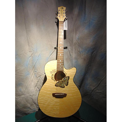 Luna Guitars Fauna Butterfly Acoustic Guitar