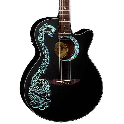 Luna Guitars Fauna Dragon Acoustic-Electric Guitar