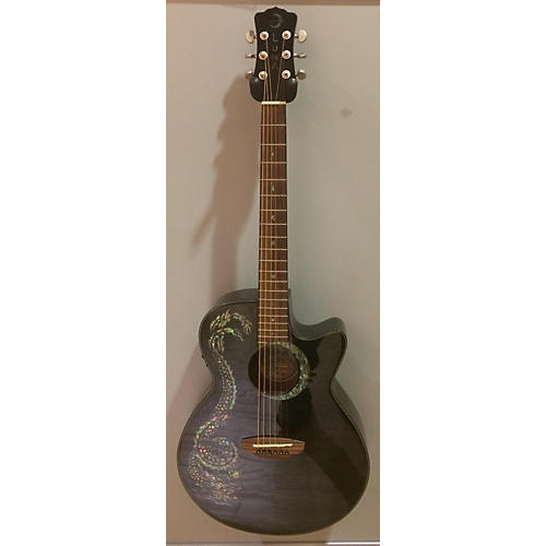 Luna Guitars Fauna Dragon Acoustic Electric Guitar