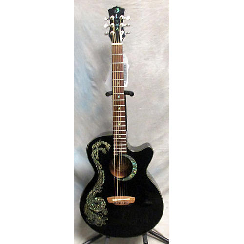 Luna Guitars Fauna Dragon Acoustic Electric Guitar-thumbnail