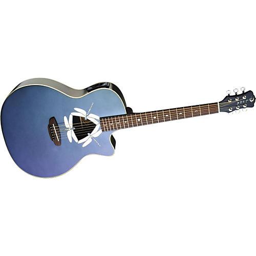 Luna Guitars Fauna Dragonfly Irid Flip Grand Auditorium Cutaway Acoustic-Electric Guitar