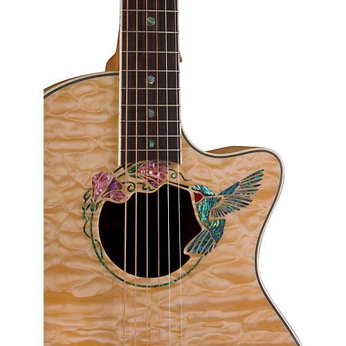 Luna Guitars Fauna Hummingbird Parlor Acoustic-Electric Guitar