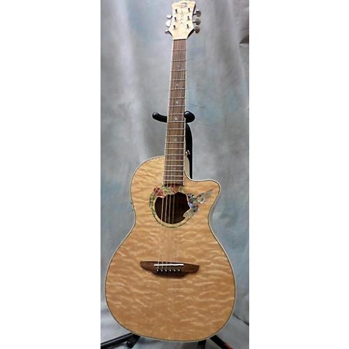 Luna Guitars Fauna Hummingbird Parlor Acoustic Electric Guitar