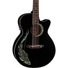 Luna Guitars Fauna Koi Acoustic-Electric Guitar Level 1 Classic Black