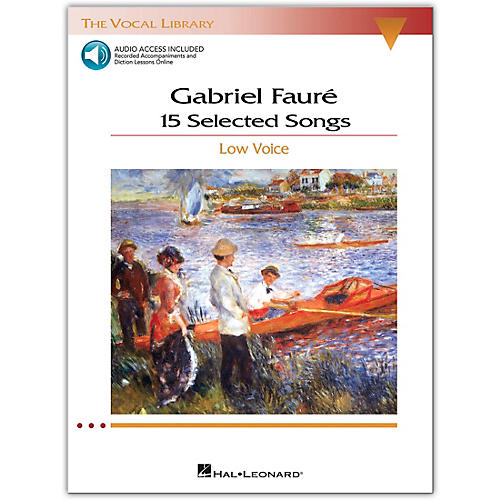 Hal Leonard Faure - 15 Selected Songs for Low Voice (The Vocal Library Series) Book / 2 CD's-thumbnail