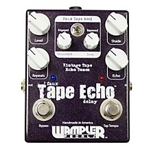 Wampler Faux Tape Echo/Delay With Tap Tempo Guitar Effects Pedal