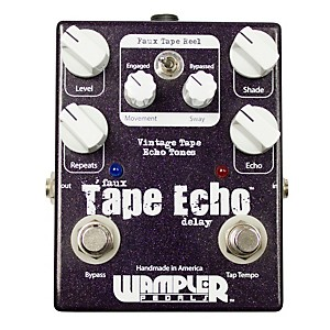 Wampler Faux Tape Echo/Delay with Tap Tempo Guitar Effects Pedal by Wampler