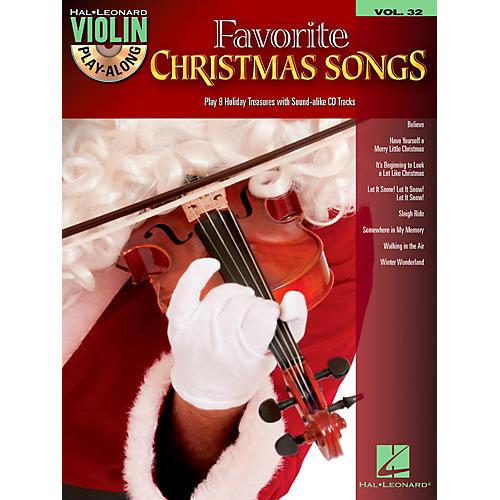 Hal Leonard Favorite Christmas Songs - Violin Play-Along Volume 32 Book/CD-thumbnail