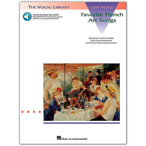 Hal Leonard Favorite French Art Songs for Low Voice (Book/Online Audio)-thumbnail