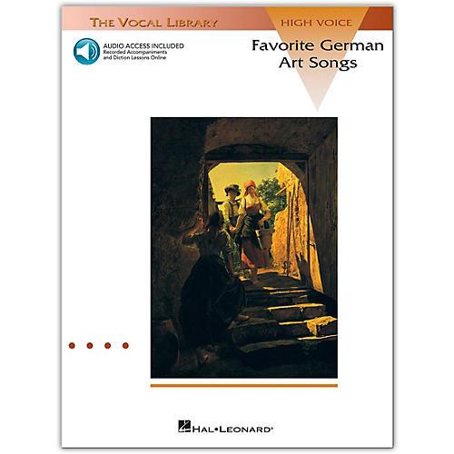 Hal Leonard Favorite German Art Songs High Voice (Book/Online Audio)-thumbnail