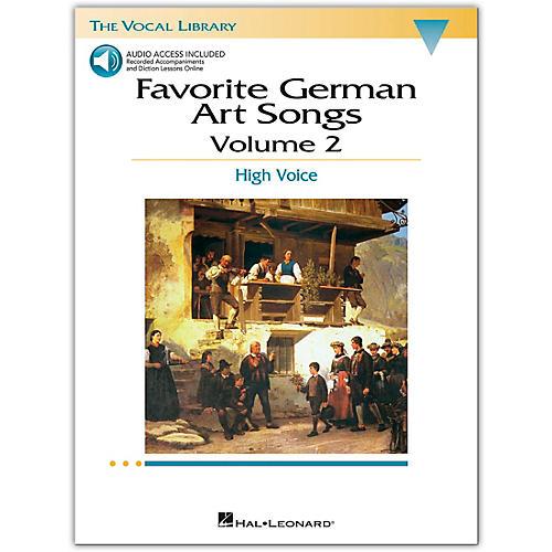 Hal Leonard Favorite German Art Songs for High Voice Volume 2 Book/Online Media-thumbnail