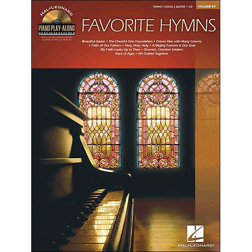 Hal Leonard Favorite Hymns - Piano Play-Along Volume 89 (CD/Pkg) arranged for piano, vocal, and guitar (P/V/G)