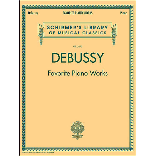 G. Schirmer Favorite Piano Works Piano Vol 2070 By Debussy-thumbnail