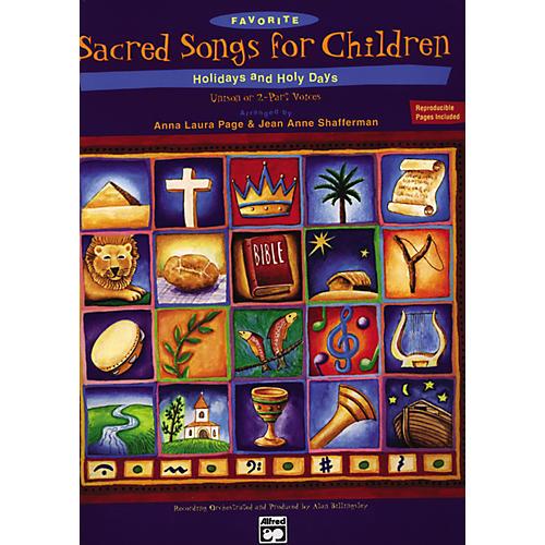 Alfred Favorite Sacred Songs for Children: Holidays & Holy Days. Split Track Accompaniment/Performance CD-thumbnail