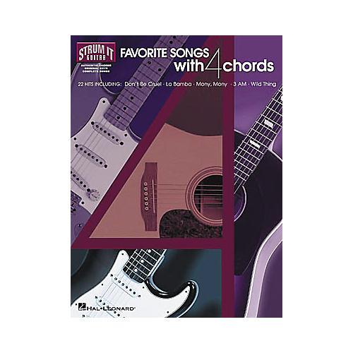 Hal Leonard Favorite Songs with 4 Chords Strum It Guitar Book-thumbnail
