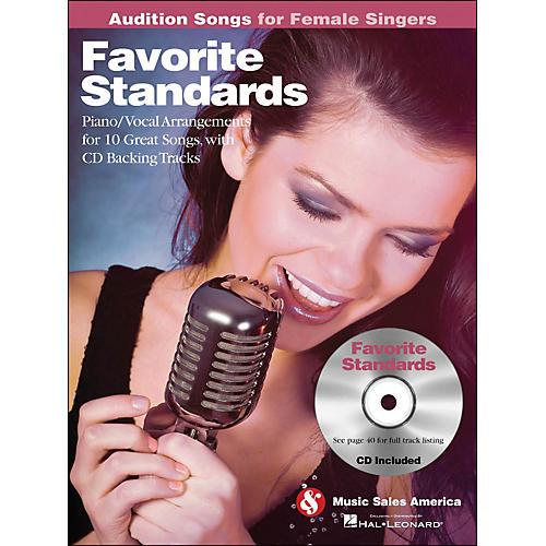 Hal Leonard Favorite Standards - Audition Songs for Female Singers Book/CD