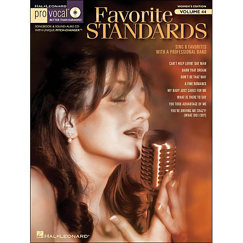 Hal Leonard Favorite Standards - Pro Vocal Songbook & CD for Female Singers Volume 44-thumbnail
