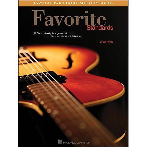 Hal Leonard Favorite Standards Jazz Guitar Chord Melody Solos-thumbnail