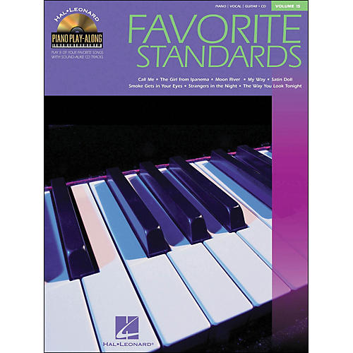 Hal Leonard Favorite Standards Volume 15 Book/CD Piano Play-Along arranged for piano, vocal, and guitar (P/V/G)-thumbnail