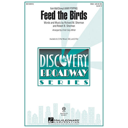 Hal Leonard Feed the Birds (Discovery Level 2) SSA arranged by Cristi Cary Miller