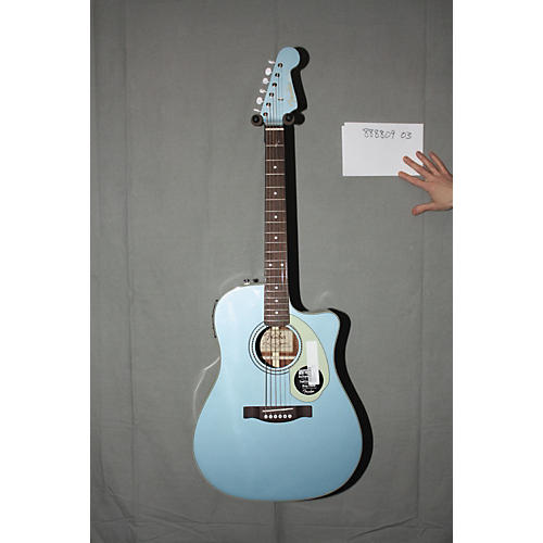 Used Fender California Series Sonoran SCE Custom Dreadnought Acoustic-Electric Guitar Lake Placid Blue