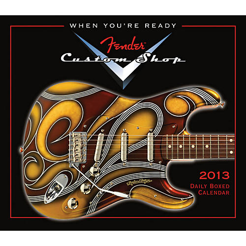 Hal Leonard Fender Custom Shop 2013 Daily Boxed Calendar