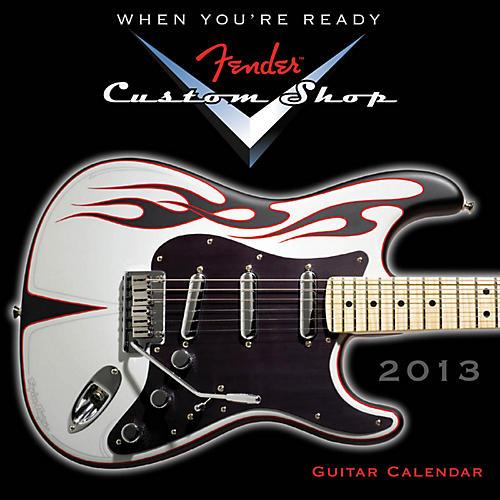 Hal Leonard Fender Custom Shop 2013 Mini Wall Guitar Calendar-thumbnail