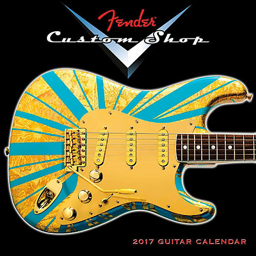 Hal Leonard Fender Custom Shop 2017 Mini Wall Calendar
