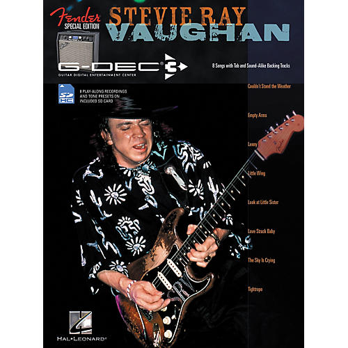 Hal Leonard Fender G-Dec Edition Stevie Ray Vaughan Guitar Play-Along Songbook/SD Card-thumbnail