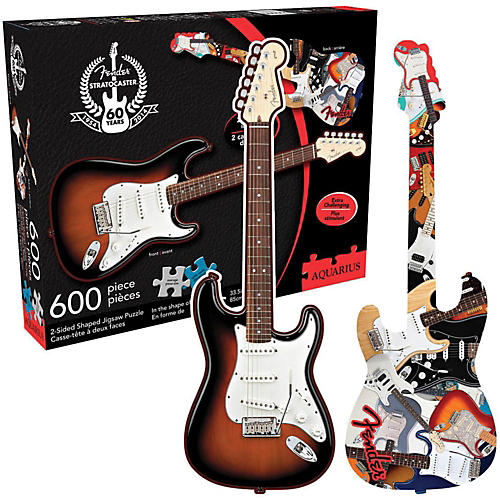 Hal Leonard Fender Guitar Shape - 600 Piece Two Sided Jigsaw Puzzle-thumbnail