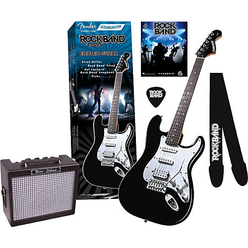 Fender Fender Starcaster Strat Rock Band Electric Guitar and Mini Deluxe Amp Value Pack-thumbnail