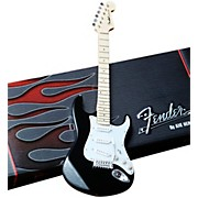 Fender Stratocaster Classic Black Miniature Guitar Replica Collectible
