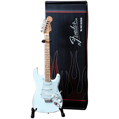 Axe Heaven Fender Stratocaster Olympic White Miniature Guitar Replica Collectible-thumbnail