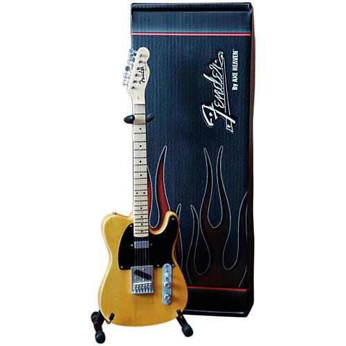 Axe Heaven Fender Telecaster Butterscotch Blonde Miniature Guitar Replica Collectible-thumbnail