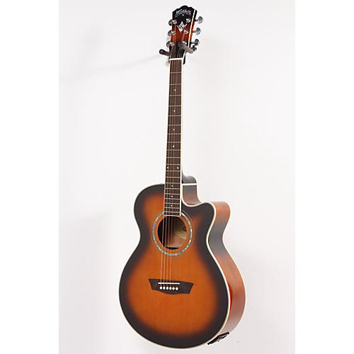 Washburn Festival EA14A Spruce Top Acoustic Cutaway Electric Guitar with 4-Band EQ Tobacco Sunburst 886830945076-thumbnail
