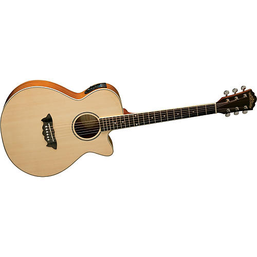 Washburn Festival EA16 Spruce Top Acoustic Cutaway Electric Mahogany Guitar With 4-Band EQ