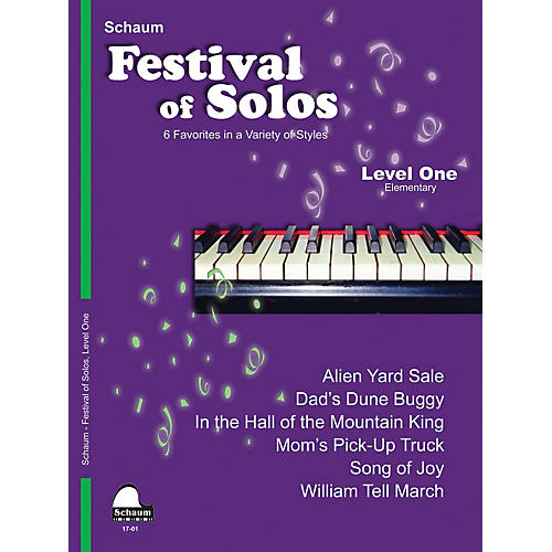 SCHAUM Festival of Solos (Level 1 Elem Level) Educational Piano Book by Various
